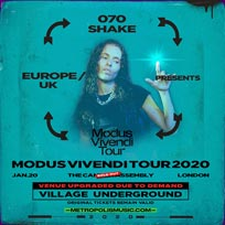 070 Shake at Village Underground on Monday 20th January 2020