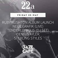 22a Ruby Rushton Album Launch at Jazz Cafe on Friday 5th May 2017