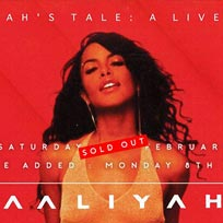 Aaliyah's Tale: A Live Show at Jazz Cafe on Monday 8th January 2018
