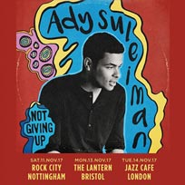 Ady Suleiman at Jazz Cafe on Tuesday 14th November 2017