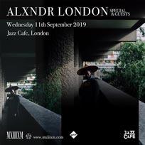 Alxndr London  at Jazz Cafe on Wednesday 11th September 2019
