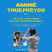AMINÉ at Heaven on Tuesday 5th December 2017
