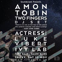 Amon Tobin DJ Set at The Troxy on Saturday 23rd November 2019