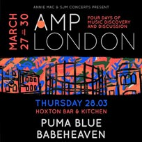 AMP London at Hoxton Square Bar & Kitchen on Thursday 28th March 2019