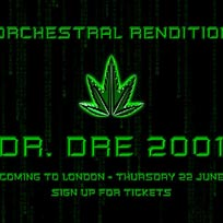 An Orchestral Rendition of Dr Dre 2001 at XOYO on Thursday 22nd June 2017