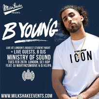 B Young at Ministry of Sound on Tuesday 26th February 2019