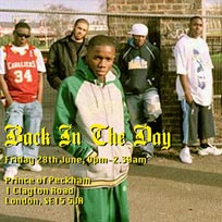 Back In The Day at Prince of Peckham on Friday 28th June 2019