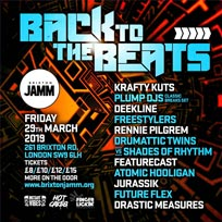 Back To The Beats at Brixton Jamm on Friday 29th March 2019