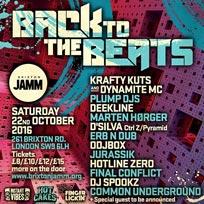 Back to the Beats w/ Krafty Kuts at Brixton Jamm on Saturday 22nd October 2016