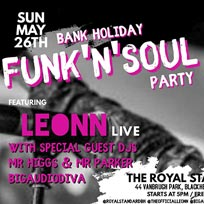 Bank Holiday Funk'n'Soul Party at The Royal Standard on Sunday 26th May 2019