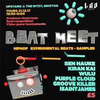 Beat Meet (L.A.B) at The Ritzy on Thursday 21st December 2017