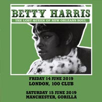 Betty Wright at 100 Club on Friday 14th June 2019