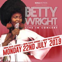 Betty Wright at Barbican on Sunday 21st July 2019