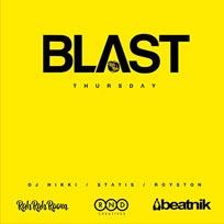 Blast at Rah Rah Room on Thursday 28th July 2016