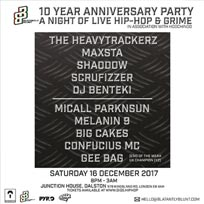 Blatantly Blunt 10th Anniversary at Junction House on Saturday 16th December 2017