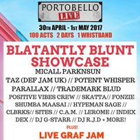 Blatantly Blunt Showcase at Portobello Live at Westbank on Sunday 30th April 2017