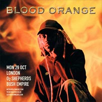 Blood Orange at Shepherd's Bush Empire on Monday 29th October 2018
