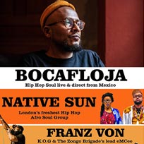 Bocafloja at Hootananny on Friday 3rd November 2017