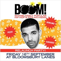 BOOM! at Bloomsbury Bowl on Friday 16th September 2016