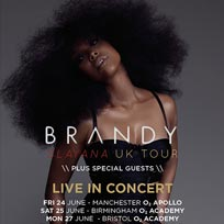 Brandy at Indigo2 on Tuesday 28th June 2016