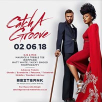 Catch A Groove at Westbank on Saturday 2nd June 2018