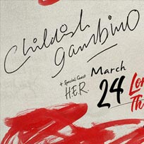 Childish Gambino at The o2 on Monday 25th March 2019