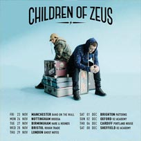 Children of Zeus at Ghost Notes on Thursday 29th November 2018