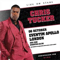 Chris Tucker at Hammersmith Apollo on Saturday 6th October 2018