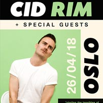 Cid Rim at Oslo Hackney on Thursday 26th April 2018