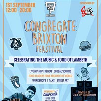 Congregate Brixton Festival at Windrush Square on Saturday 1st September 2018