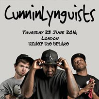 Cunninlynguists at Under the Bridge on Tuesday 28th June 2016