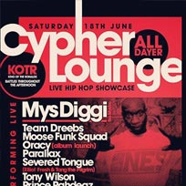 The Cypher Lounge at Brixton Windmill on Saturday 18th June 2016