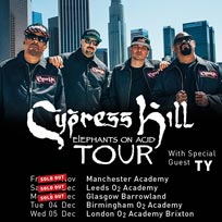 Cypress Hill at Brixton Academy on Wednesday 5th December 2018