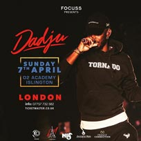 Dadju at Islington Academy on Sunday 7th April 2019