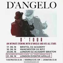 D'Angelo at Brixton Academy on Wednesday 20th June 2018
