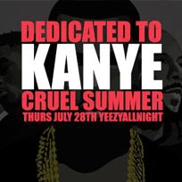 Dedicated to Kanye at Notting Hill Arts Club on Thursday 28th July 2016
