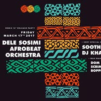 Dele Sosimi Afrobeat Orchestra at Bussey Building on Friday 17th March 2017