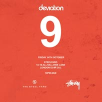 Deviation at The Steelyard on Friday 14th October 2016