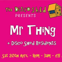 Disco Shed at Book Club on Saturday 20th April 2019