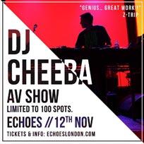 DJ Cheeba AV Show at TripSpace Projects on Saturday 12th November 2016