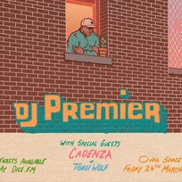 DJ Premier at Oval Space on Friday 24th March 2017