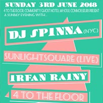 DJ Spinna at Ghost Notes on Sunday 3rd June 2018