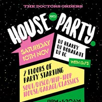 TDO House Party at Paradise by way of Kensal Green on Saturday 10th November 2018