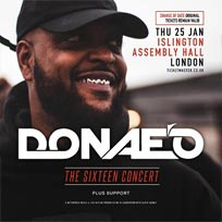 Donae'o at Islington Assembly Hall on Thursday 25th January 2018