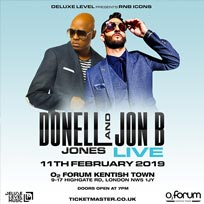 Donell Jones & Jon B at The Forum on Monday 11th February 2019