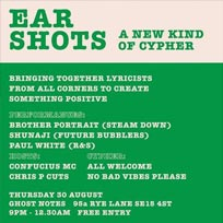 Ear Shots at Ghost Notes on Thursday 30th August 2018