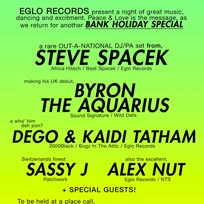 Eglo Records Bank Holiday Special at Corsica Studios on Sunday 29th May 2016