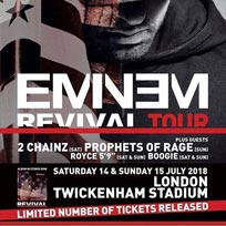 Eminem at Twickenham Stadium on Saturday 14th July 2018