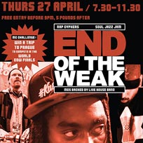 End of the Weak LDN at The Ritzy on Thursday 27th April 2017