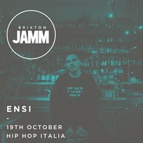 ENSI at Brixton Jamm on Thursday 19th October 2017